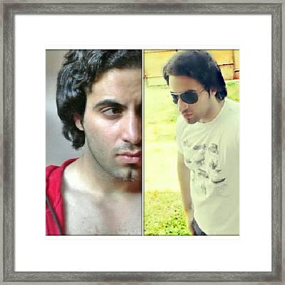 #me #reflections #uplose #instalike Framed Print
