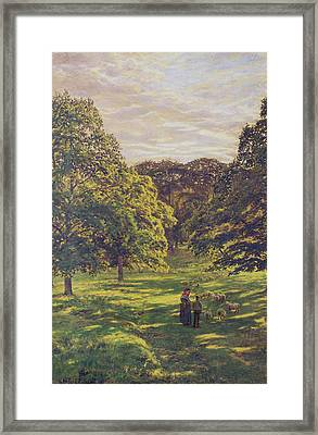 Meadow Scene  Framed Print by John William Buxton Knight