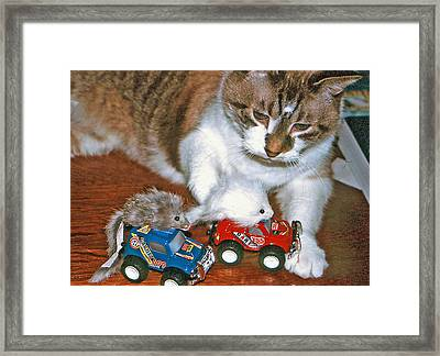 Framed Print featuring the photograph Meals On Wheels by Lou Belcher