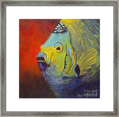 Mean Green Fish Framed Print