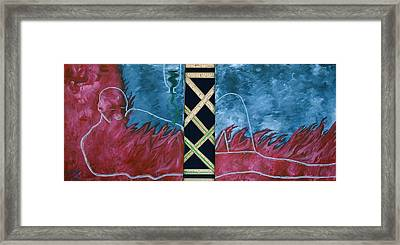 Framed Print featuring the mixed media Measure Of A Man by Lisa Brandel