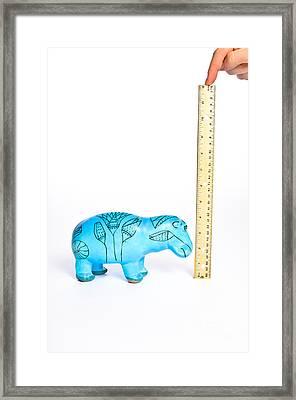 Measuring Height Framed Print