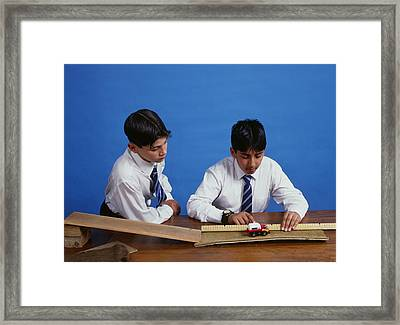 Measuring Stopping Distance Framed Print by Andrew Lambert Photography