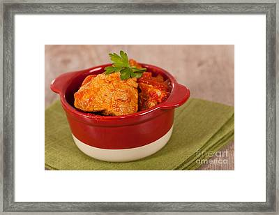 Meat And Tomato  Framed Print