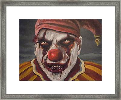 Framed Print featuring the painting Meat Clown by James Guentner