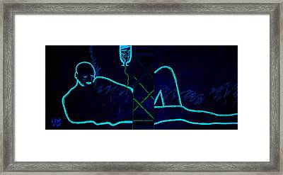 Framed Print featuring the painting Meausre Of A Man Black Light View by Lisa Brandel