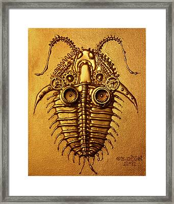 Mecha-trilobite 3 Framed Print by Baron Dixon