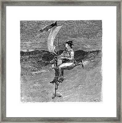 Mechanical Buoy, 19th Century Framed Print by