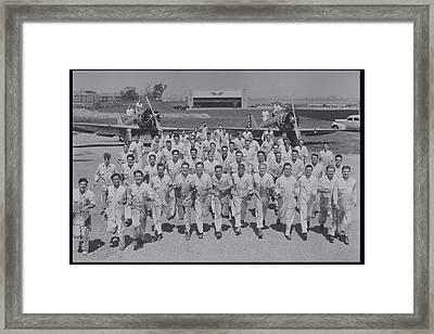 Mechanics In Uniform With Airplanes, Circa 1930 Framed Print