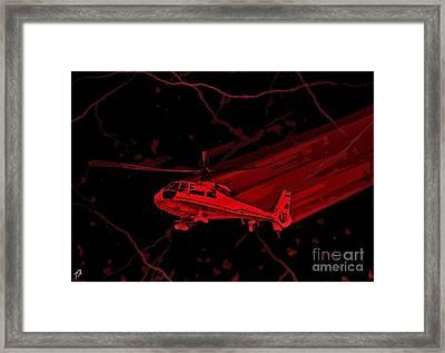 Med Flight Framed Print