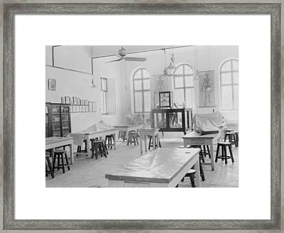 Medical College, Baghdad And Road Framed Print by Everett