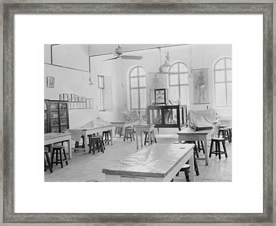 Medical College, Baghdad And Road Framed Print