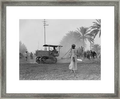 Medical College, Tractor Pulling A Cart Framed Print by Everett