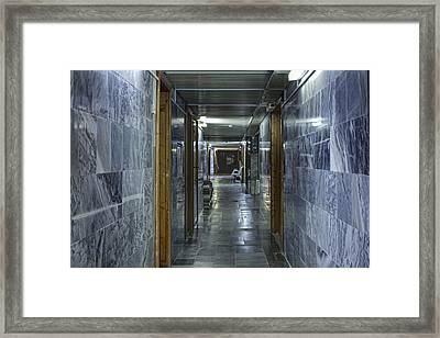 Medical Diagnostics Center Corridor Framed Print