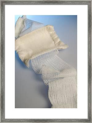 Medical Dressing Framed Print