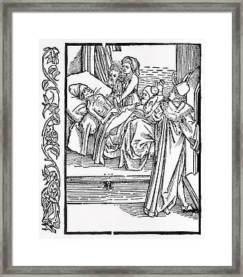 Medical Prescription, Satirical Artwork Framed Print by