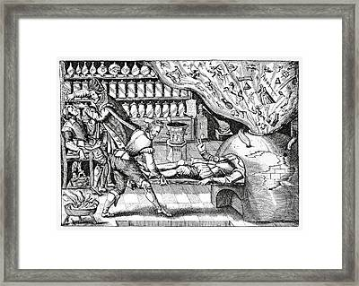 Medical Purging, Satirical Artwork Framed Print by