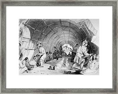 Medicine Dance Of The Winnebagos Framed Print by Science Source