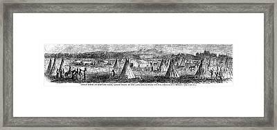 Medicine Lodge Creek, 1867 Framed Print by Granger