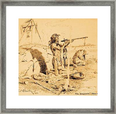 Medicine Man Framed Print by Pg Reproductions