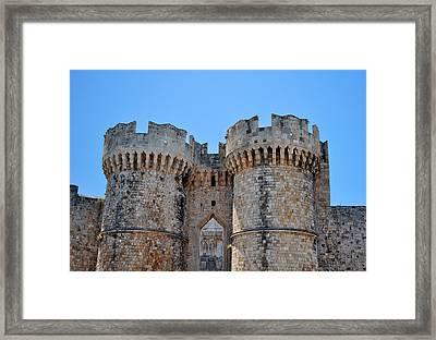 Medieval Fortress Of Rhodes. Framed Print