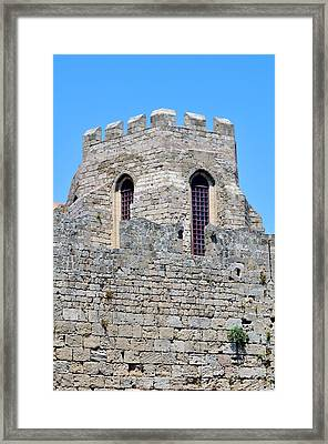 Medieval Fortress Of Rhodes. Greece. Framed Print