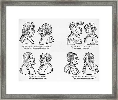 Medieval Stereotypes Framed Print by NYPL/Omikron