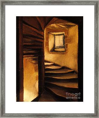 Medieval Tower Framed Print by Mona Edulesco