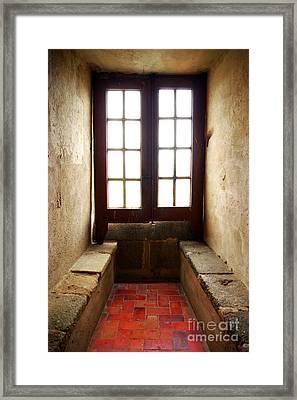 Medieval Window Framed Print by Carlos Caetano