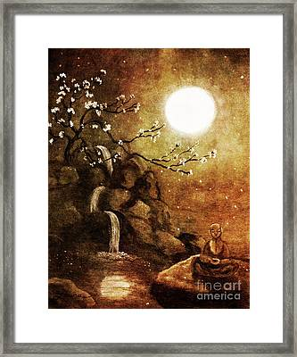 Meditation Beyond Time Framed Print by Laura Iverson