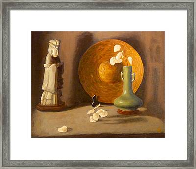 Framed Print featuring the painting Meditation by Joe Bergholm