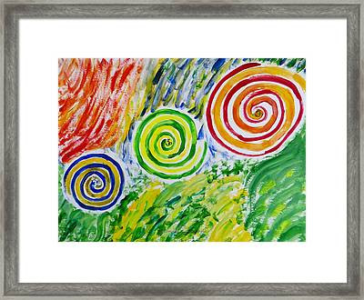Framed Print featuring the painting Meditation by Sonali Gangane