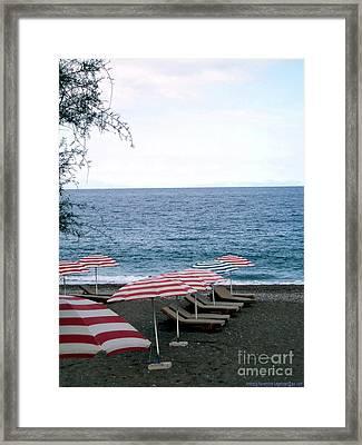 Mediterranean Beach Time  Framed Print by Anthony Novembre