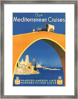 Mediterranean Cruising Framed Print by Georgia Fowler