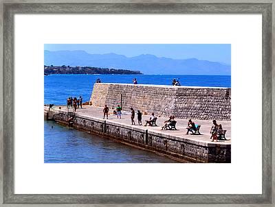 Mediterranean Landscapes Framed Print by Eire Cela