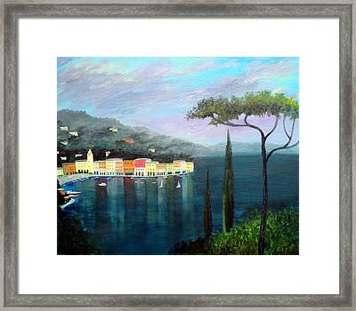 Mediterranean  Mist Framed Print