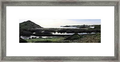 Framed Print featuring the photograph Mediterranean View by Pedro Cardona