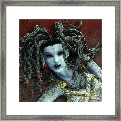 Medusa Framed Print by Jutta Maria Pusl