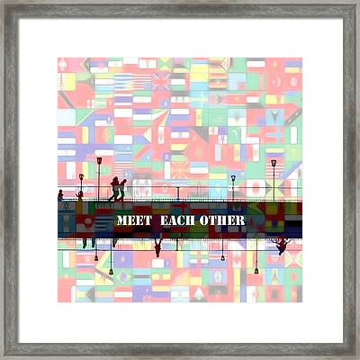 Meet Each Other Framed Print by Steve K