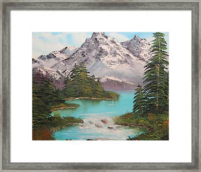Meet Me At The River Framed Print by Christie Minalga