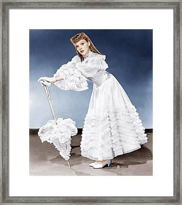 Meet Me In St. Louis, Judy Garland, 1944 Framed Print