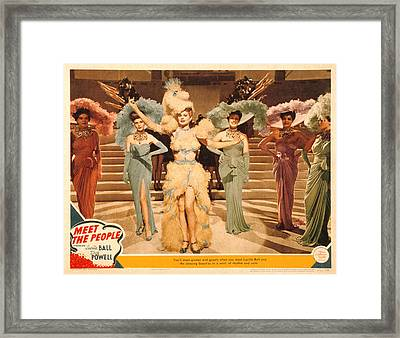 Meet The People, Lucille Ball, 1944 Framed Print by Everett