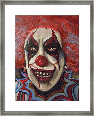 Framed Print featuring the painting Meet You Tonight by James Guentner
