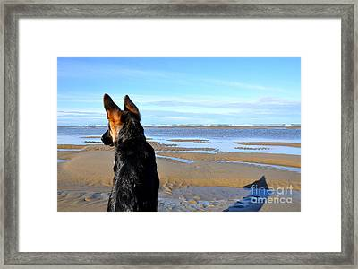 Meeting A Sunrise Framed Print