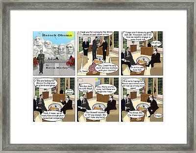 Meeting Calderon Framed Print