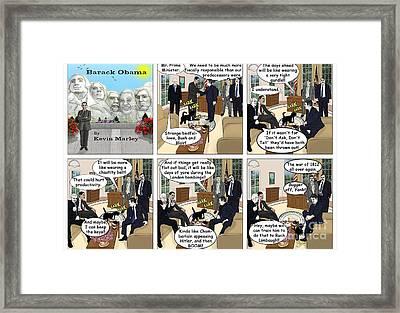 Meeting Gordon Brown Framed Print