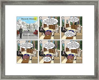 Meeting Mark Twain II Framed Print