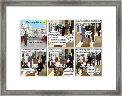Meeting Netanyahu Framed Print