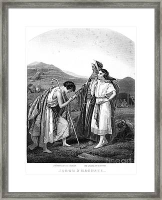 Meeting Of Jacob & Rachel Framed Print by Granger