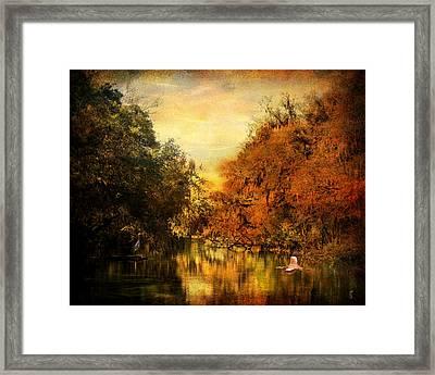 Meeting Of The Seasons Framed Print by Jai Johnson